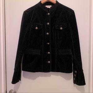 Michael Kors black velvet jacket sz 12